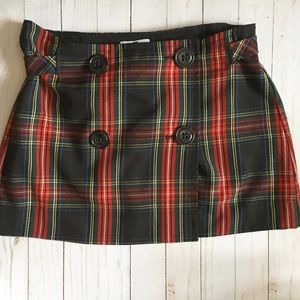 Women's Gap Tartan Plaid Mini Skirt SZ 8